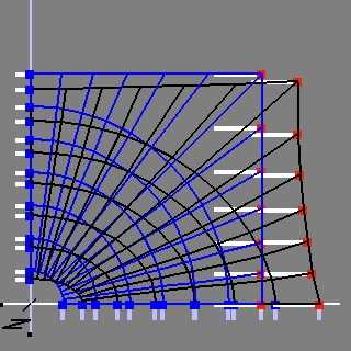 inclusion mesh with load